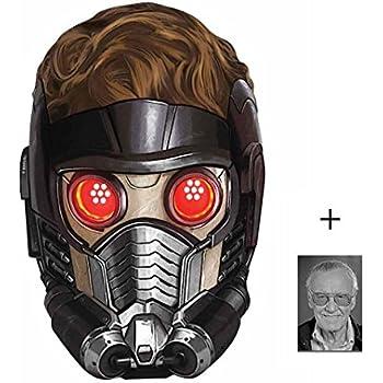 Peter Quill (Chris Pratt) Star-Lord Marvel Les Gardiens de la galaxie Masque en carton de 2D Comprend une photo étoile (15x10cm)