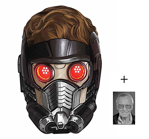 Peter Quill (Chris Pratt) Star-Lord Marvel Guardians of the Galaxy Single Karte Partei Gesichtsmasken (Maske) Enthält 6X4 (15X10Cm) starfoto