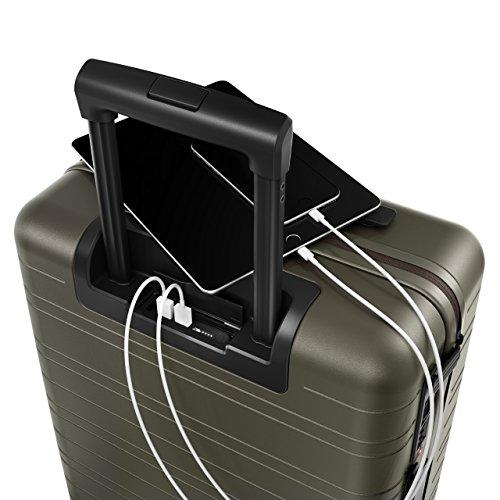 HORIZN STUDIOS H5 Handgepäck | Kabinen Trolley Koffer | Hartschale 55 cm, 35 L, mit 4 Rollen und TSA Schloss, Olivgrün (Dark Olive) - 3
