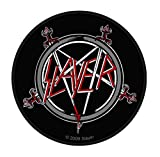Slayer Patch Pentagram Band Logo offiziell Nue Schwarz Woven Cotton Circular