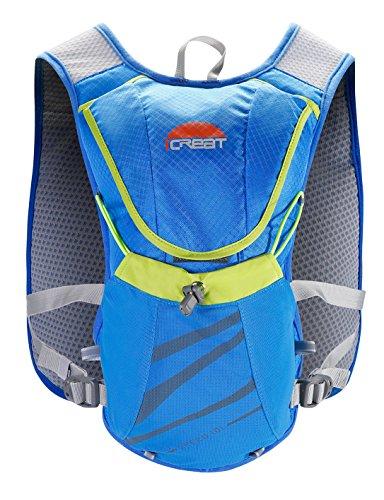 ICREAT Fahrrad Rucksack Fahrradrucksack Trinkrucksack Halter Trinksystem Sicherheitswesten, ohne Trinkrucksack nur Rucksack Blau