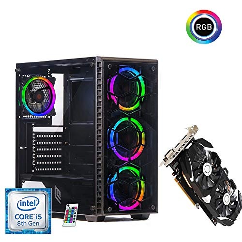 Pc gaming intel i5 8500 4.10ghz turbo,Scheda video Gtx 1060 3gb,Ssd 480gb,Ram 8gb Ddr4,Windows 10 pro,Pc desktop i5 assemblato Computer,Pc completo Fortinite,League of Legends,GTA 5,Counter Strike