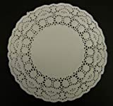 White 9.5 Inch Paper Doilies - Pack of 250