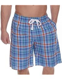 a9b248427c Cargo Bay Mens Lounge Shorts Yarn Dyed Checked Woven Lounge WEAR Pyjama  Shorts