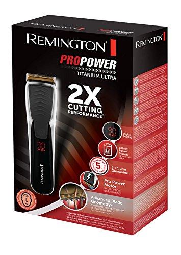 Remington HC7170 ProPower Titanium Ultra Haarschneider mit titanbeschichteten Klingen, ProPower-Motor, schwarz - Bild 6