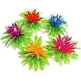 SLB Works Plastic Artificial Underwater Plants Aquarium 5.1cm 4 Pcs Color Random F8C4
