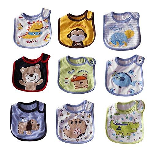 Free Fisher Baberos del Bebé Impermeables - Paquete de 9 Diseños para Niña