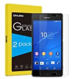 [Pack of 2] Sony Xperia Z3 Compact Screen Protector, SPARIN [Tempered Glass] Screen Protector for Sony Xperia Z3 Compact (NOT FIT Z3) [Scratch Resist] [Bubble Free Install] [2.5D Curved Edge] [HD Clear] [Lifetime Warranty]