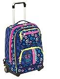 Trolley Seven Combo–Mexi Girl–Blue–Mochila Totalmente. Uso mochila escolar y viaje