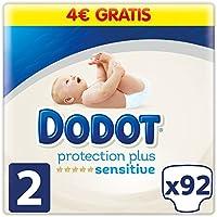 Dodot Pañales Protection Plus Sensitive,Talla 2, para Bebes de 4-8 kg - 92 Pañales