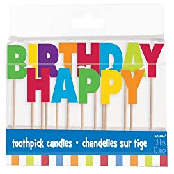 Happy Birthday Toothpick Candles
