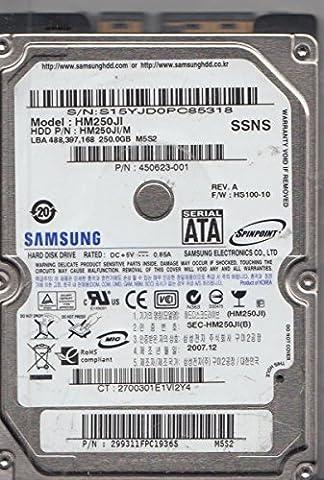 HM250JI, HM250JI/M, FW HS100-10, M5S2, Samsung 250GB SATA 2.5 Hard Drive