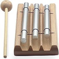 Stagg 20029 Chimes/Tisch-Glockenspiel (3x Töne, Note C/E/G, Schlägel, Länge: 17,3 cm, Breite: 7,2 cm)