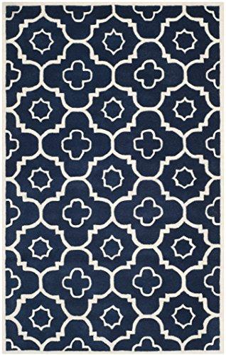 Preisvergleich Produktbild Safavieh Alexa handgetuftet Teppich, Dunklen Blau/Elfenbein, 121x 182cm