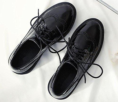 Zapatos Británicos De Las Mujeres Del Estilo De La Vendimia Nuevos 2017 Zapatos Del Otoño De La Primavera De La Plataforma De Las Mujeres De Oxford Pisos Suela Gruesa Negro