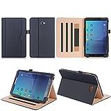 ISIN Tablet Fall Serie Premium PU-Leder Schutzhülle für Samsung Galaxy Tab A 10.1 Zoll SM-T580 T585 FHD WIFI 4G LTE Android Tablet PC (Mehrere View Engel, Schwarz)