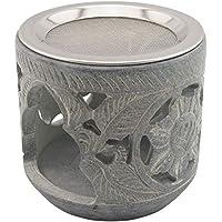 """K W Räucherstövchen aus indischem Speckstein mit Edelstahl-Sieb – Design """"Shiva – H 9 cm preisvergleich bei billige-tabletten.eu"""