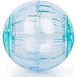 BIGWING Style-Balón Juguete Ejercicio para Mascota Pequeña Hámster,Cobayo, Salamanquesa, Lagarto, Gryllidae, Diámetro 12,50CM, Azúl