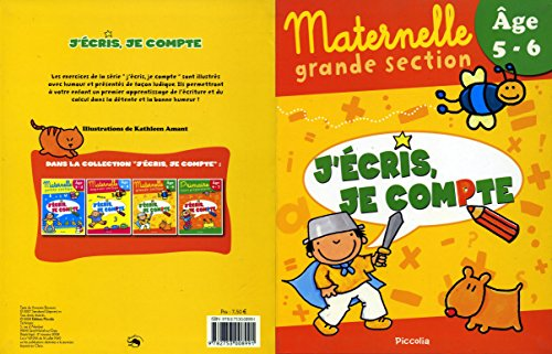 J'Ecris, Je Compte/Maternelle Grande Section 5-6ans