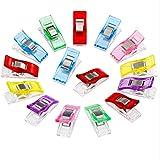 10 Stoffklammern Wonder Clips, 6 Farben für Nähen Quilting Clips, Häkeln Klammer Multi-Use Nähmaschinenhelfer Kurzwaren Naehen Kunst (lila)