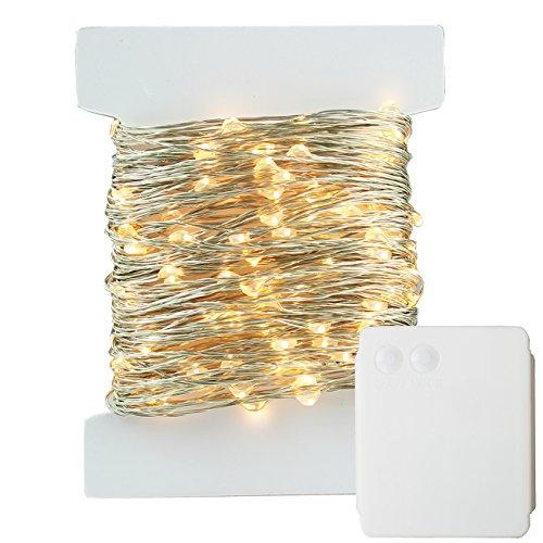 400led 40m catene luminosa filo di rame argento colore, stringa luci leds luminose, carica batteria, 8 modi, interno ed esterno, per decorazioni feste, alberi di natale, giardino (bianco caldo)