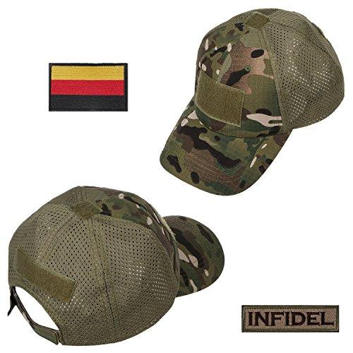 Xidan FM8 Herren Mesh Taktische Kappe Sport Baseball Militär Tarnung Sonne Hüte Kappe mit Deutschland Flagge Patch/Wörter Patch