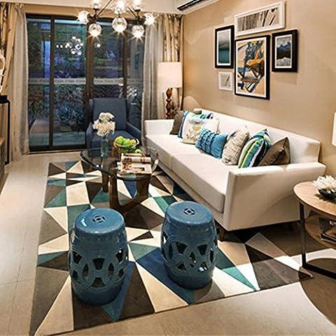 Géométrie Home Rugs 119,4x 160cm–Memorecool Divers motifs sans la décoloration Anti-slipping Style simple Table à thé de salon Tapis, Pattern20, 63x91inch