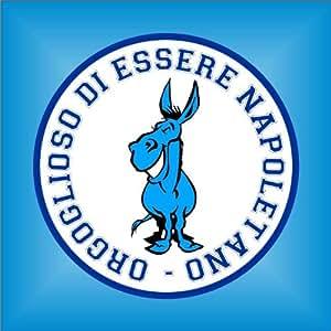 Adesivo Ciuccio Forza Napoli Ultras Serie A champions league