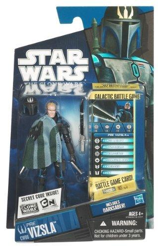 Star Wars 97560 Star Wars Figur Pre Vizsla The Clone Wars mit Battle Karte
