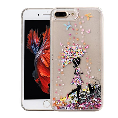 Ouneed® For iPhone 7 Plus Hülle, Glitter Powder Quicksand Star Solid Back Case Cover für iPhone 7 Plus 5.5 Zoll (5.5 Zoll, A) C