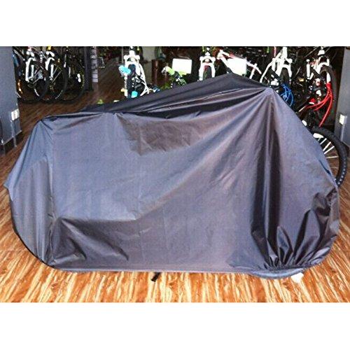 Sealands Zwei Fahrräder Fahrradabdeckung Motorrad Fahrrad Moped Scooter Wasserdicht Staub Schutzhülle 180T Umbrella Tuch UV-Schutz Atmungsaktiv Abdeckplane Plane (Schwarz) (Scooter Cover Wasserdicht)