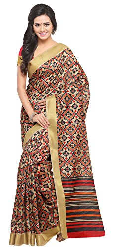 Rajnandini Women's Tussar Silk Saree With Blouse Piece (JOPLNB8004_Beige_Free Size)