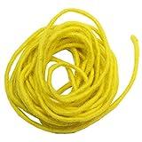 trendmarkt24 Filzband 2er Set Gelb, 2 x 5m Lang ✓ Filzschnur Ø ca. 5 mm dünn ✓ 100% Natur Schafschurwolle/Wasserfest Lichtecht Farbecht ✓ Filz-Schnur Blumenband ✓ Deko-Band 5-mm 770061