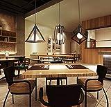Home-Neat Géométrique Shape LED pendentif plafond suspendu lampe chrome éclairage spots projecteurs 3 Lumière dans 1 Plaque de Rectangle D13.8'' X L47