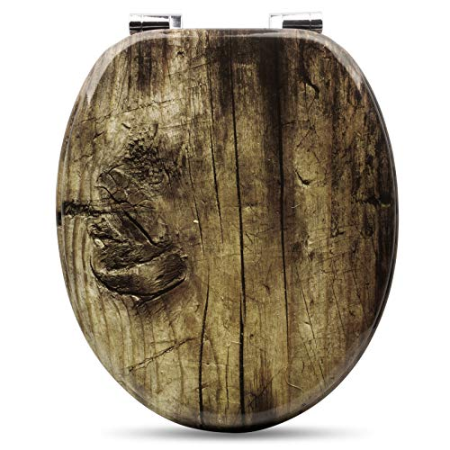 Wooden Toilet Seat,Soft Close To...