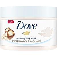 Dove Exfoliating Body Polish| Body Scrub |Deeply Nourishing Crushed Macadamia and Rice Milk |Moisturises & Brightens…