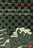 La Théorie de l'Etat de Carré de Malberg