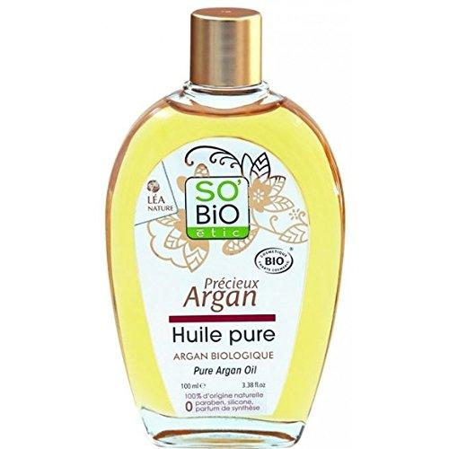So Bio - Huile pure d'argan bio, visage, corps et cheveux. 100% d'orgine naturelle O paraben silicone, parafine. - Le flacon de 100ml - (pour la quantité plus que 1 nous vous remboursons le port supplémentaire)