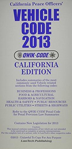 Vehicle Code 2013: Qwik Code