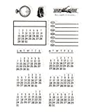 1 PC Tampons Calendrier de temps Transparents DIY Scrapbooking Tic-Tac^^