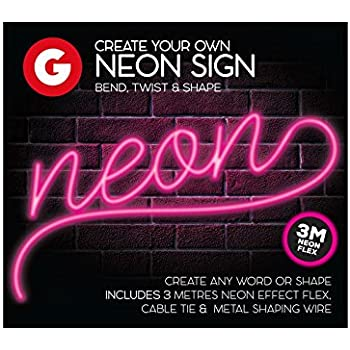 Make Your Own Neon Effect Sign 3M Neon String Light Message Kit WHITE
