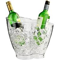 Enfriador doble de plástico para bebidas, para vino y champán, para 2botellas
