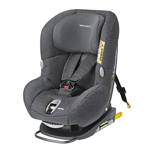 Bébé Confort Milofix - Silla de coche giratoria, grupo 0+/1, 0-18 kg, color sparkling grey