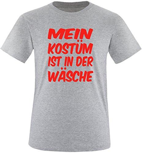 Luckja Mein Kostüm ist in der Wäsche Herren Rundhals T-Shirt Grau/Rot