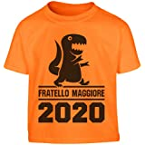 Shirtgeil FratelloMaggiore dal 2020- Dinosauro T-Rex Maglietta per Bambini