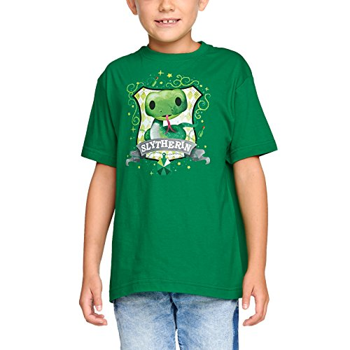 Elbenwald Harry Potter Kinder T-Shirt Magical Slytherin Baumwolle grün - 122/128