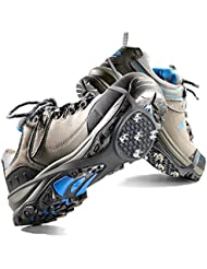 Crampon Antidérapent, Mture 1 Paire Walk Sur-chaussure Antidérapante Crampons Anti-verglas / Crampons Neige Pour Activités Aux Zones Mmouillées et du Ski (M)