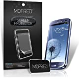 MOFRED� 6 in Pack Screen Protector Value Pack For Samsung Galaxy S3 III i9300 Retail Packed with Cleaning Cloth And Application Card