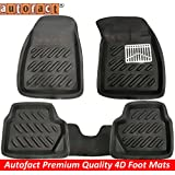 Autofact Black 3D/4D Car foot Mats For Ford Ecosport (Complete Set)