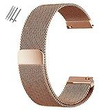 Adallor Montre Bracelet, 18 20 22 24 mm Magnetic Closure Strap Acier Inoxydable...
